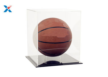 Vitrine acrylique claire recyclable pour le football du football de base-ball de basket-ball